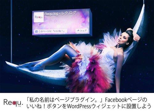 「私の名前はページプラグイン。」Facebookページのいいね!ボタンをWordPressウィジェットに設置しよう