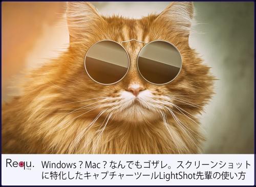 Windows?Mac?なんでもゴザレ。スクリーンショットに特化したキャプチャーツールLightShot先輩の使い方
